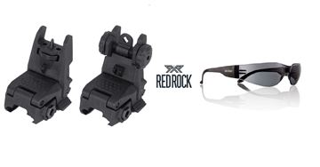 Image de RR - FLIP FRONT SIGHT + FLIP REAR SIGHT + RED ROCK EYEWEAR